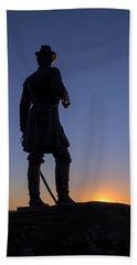 Gettysburg - Gen. Warren At Sunset Bath Towel