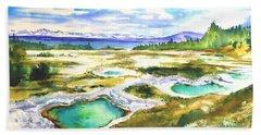 Geyser Basin, Yellowstone Bath Towel