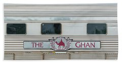 Ghan Train At Alice Springs Bath Towel