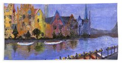 Hand Towel featuring the painting Ghent by Jamie Frier