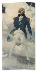 Ghost Of Admiral Nelson Hand Towel