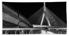 Ghost Rider At Zakim Bridge Hand Towel