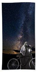 Ghost Rider Under The Milky Way. Bath Towel