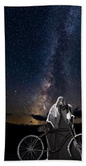 Ghost Rider Under The Milky Way. Hand Towel