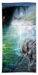 Ghost Ship 2 Bath Towel by Heather Calderon