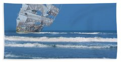 Ghost Ship On The Treasure Coast Hand Towel
