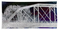 Ghostly Bridge Bath Towel