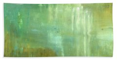 Bath Towel featuring the painting Ghosts In The Water by Michal Mitak Mahgerefteh