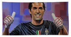 Gianluigi Buffon Painting Hand Towel
