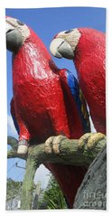 Giant Macaws Hand Towel by Randall Weidner