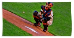 Giants Buster Posey Gets Fast Ball Bath Towel