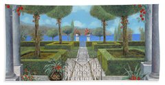 Italian Architecture Paintings Bath Towels