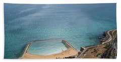 Gibraltar Rock View To The Beach Bath Towel