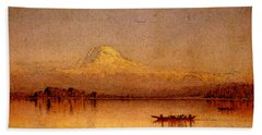 Gifford Sanford Robinson Mount Rainier Bay Of Tacoma Hand Towel