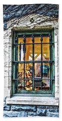 Bath Towel featuring the photograph Gift Shop Window by Sandy Moulder