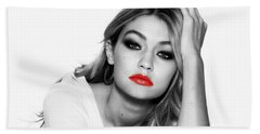 Gigi Hadid 1c Hand Towel by Brian Reaves