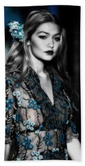 Gigi Hadid Hand Towel by Brian Reaves