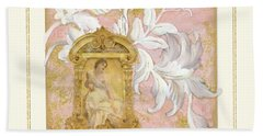 Gilded Age I - Baroque Rococo Palace Ceiling Inspired  Bath Towel