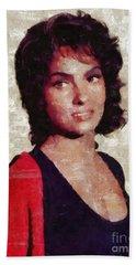 Gina Lollobrigida By Mary Bassett Bath Towel