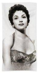 Gina Lollobrigida, Vintage Actress By John Springfield Hand Towel