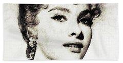 Gina Lollobrigida, Vintage Actress Hand Towel