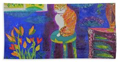 Ginger The Cat Hand Towel