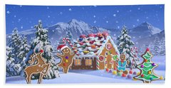 Gingerbread House Hand Towel