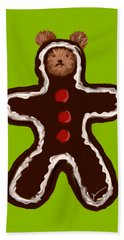 Gingerbread Teddy Bath Towel by Jean Pacheco Ravinski