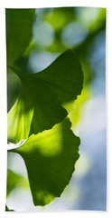 Gingko Leaves In The Sun Hand Towel