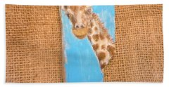 Giraffe  Hand Towel by Ann Michelle Swadener