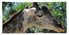 Giraffe  Hand Towel by Chris Mercer