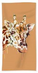 Giraffe Head Bath Towel by Marian Voicu