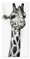 Giraffe Hand Towel by Heidi Kriel