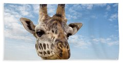 Giraffe In The Masai Mara Hand Towel