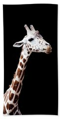 Giraffe Hand Towel by Lauren Mancke