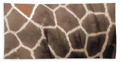 Giraffe Love Hand Towel