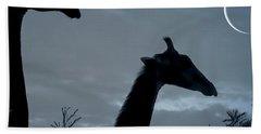 Giraffe Moon  Bath Towel
