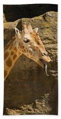 Giraffe Raspberry Hand Towel