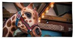 Hand Towel featuring the photograph Giraffecarousel by Lisa L Silva