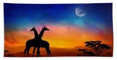 Giraffes Can Dance Hand Towel by Iryna Goodall