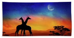 Giraffes Can Dance Hand Towel