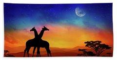 Giraffes Can Dance Hand Towel