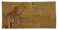 Giraffes On A Walk 2 Hand Towel