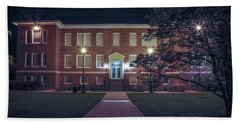 Hand Towel featuring the photograph Girard Hall At Night by Gregory Daley  PPSA