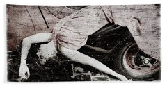 Hand Towel featuring the photograph Girl #3434 by Andrey  Godyaykin