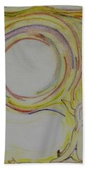 Girl And Universe Creative Connection Hand Towel