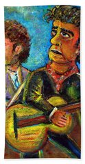 Girl From North Country Johnny Cash And Bob Dylab Hand Towel by Jason Gluskin