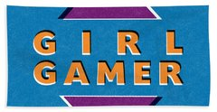 Girl Gamer Bath Towel
