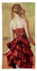Girl In A Copper Dress II Bath Towel