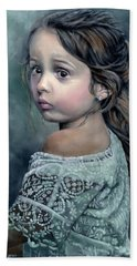 Girl In Lace Hand Towel
